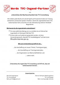 Unterstütze die Nachwuchsarbeit des TV Cronenberg